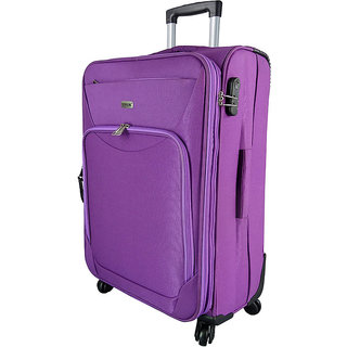 Timus Upbeat Spinner 65 CM 4 Wheel Trolley Expandable  Check-in Luggage - 24 inch (Purple)