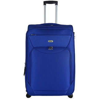 Timus Upbeat Spinner 65 CM 4 Wheel Trolley Expandable  Check-in Luggage - 24 inch (Blue)