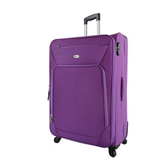 Timus Upbeat Spinner 75CM Wine 4 Wheel Trolley Suitcase Expandable Check-in Luggage - 28 inch (Purple)