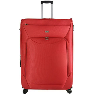 Timus Upbeat Spinner 75CM Red 4 Wheel Trolley Suitcase Expandable  Check-in Luggage - 28 inch (Red)