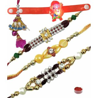 Smart Set of 5 Kids  Fancy Rakhi Lumba