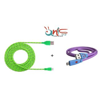 Ants Combo ( Smiley USB Data Cable + Funky USB Data Cable- AT-DTA-2-596 )