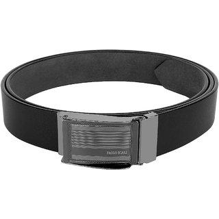 Benzi Balck lather Belt for Men