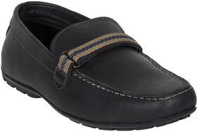 Numero Uno Men's Black Slip On Casual Shoes