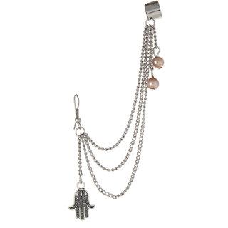 Fayon Funky Fashion Fatima Hand Charm Earcuff for Single ear