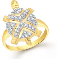 Tortoise Rings For Girls ,Women Gold Plated In American Diamond Cz Jewellery FR523