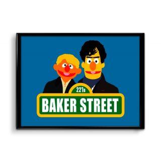 Ownclique 221B Baker Street Sherlock Holmes Minimal Art 12x18 inches Matte Poster