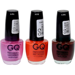New Multicolor Nail Polish Combo Gq 121 122 125