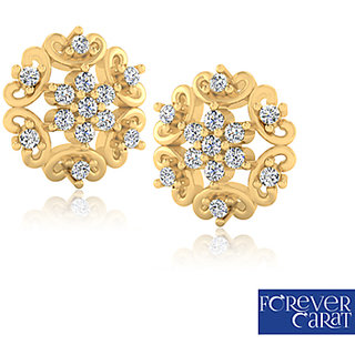 0.12ct Natural Diamond Earring Set 14k Hallmark Gold Diamond Stud ER-0206