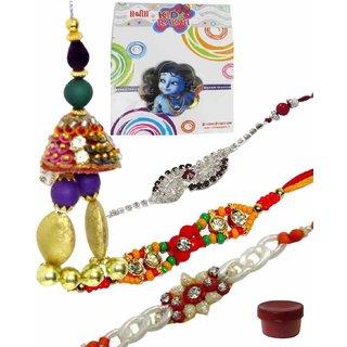 Joyous Set of 5 Kids  Fashionable Rakhi Lumba