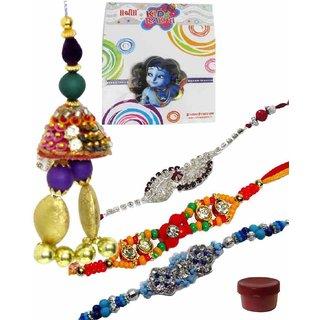 Classic Set of 5 Kids  Fashionable Rakhi Lumba