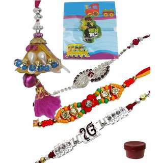 Exotic Set of 5 Kids  Fashionable Rakhi Lumba