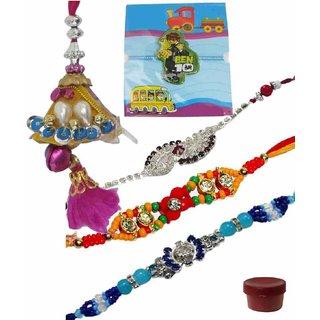 Scintillating Set of 5 Kids  Fashionable Rakhi Lumba