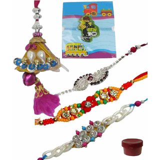 Fashionable Set of 5 Kids  Fashionable Rakhi Lumba