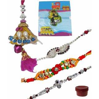 Stunning Set of 5 Kids  Fashionable Rakhi Lumba