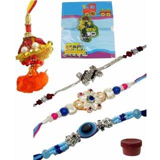 Fascinating Set of 5 Kids  Fancy Rakhi Lumba