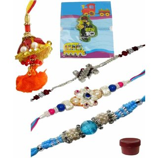Exciting Set of 5 Kids  Fashionable Rakhi Lumba