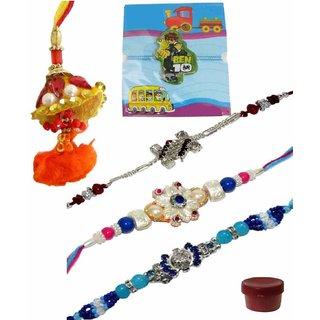 Set of 5 Kids  Fashionable Rakhi Lumba