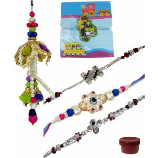 Bewitching Set of 5 Kids  Sophisticated Rakhi Lumba