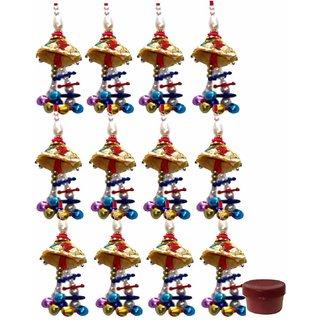 12pcs Dangling Zardosi Lumba for Women
