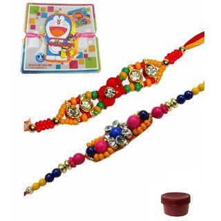 Beautiful Set of Three Kids  Bhaiya Rakhis