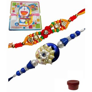 Exquisite Rakhi Set of 3 Kids  Bhaiya Rakhis