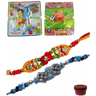 Smart  Stylish Set of 4 Kids  Bhaiya Rakhis