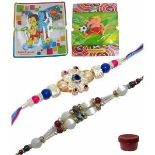 Dazzling Set of 4 Kids  Bhaiya Rakhis