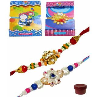 Mesmerizing Set of 4 Kids  Bhaiya Rakhis