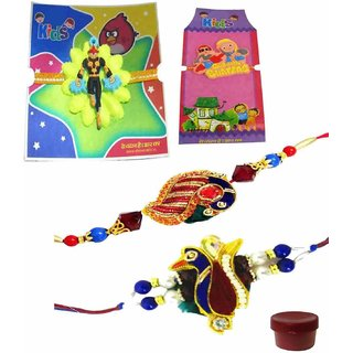 Adorable Set of 4 Kids  Bhaiya Rakhis