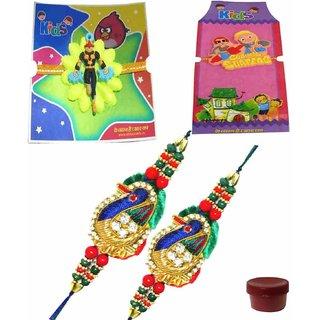 Splendid Set of 4 Kids  Bhaiya Rakhis
