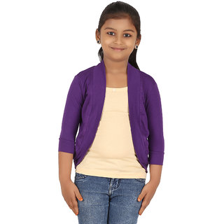 BELONAS Girls Purple Shrug