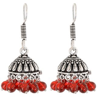 Pearl Jhumki Earring, Red Every Day Wear Earring For Women, Fashion Jewellery, Gift For Mother
