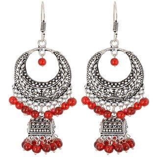 Pearl Dangle  Drop Earring, Maroon Ocassion Wear Earring For Women, Artificial Jewellery, Gift For Sister