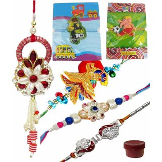 Enchanting Family Rakhi Combo