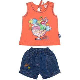 I Love Mom Orange 6 12 Months Girls Tops Bottoms Sets