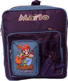 RSC Polyster Mario School Bag with Front bottle pocket Blue 1223