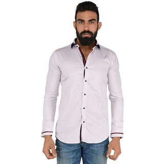 Fashion Ocean Men's Cotton Casual Shirt White