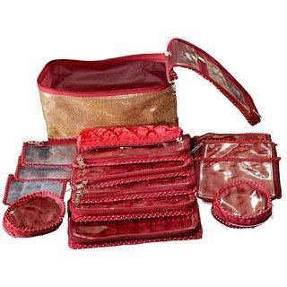 Srajanaa Jewellery Organiser / Jewellery Boxes For Locker - 15 Pcs Set