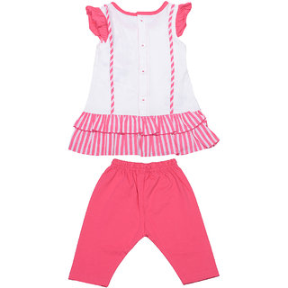 I Love Mom Pink 6  12 Months Girls Tops  Bottoms Sets