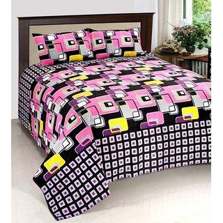 Sandhya Cotton Floral Double Bedsheet (1 Bedsheet, 2 Pillow Cover, Multti Color)