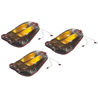 Srajanaa Small Shoe Cover Set / Shoe Pouch - Set Of 3