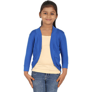 BELONAS Girls Royal Blue Shrug