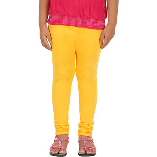 BELONAS Girls Golden Yellow Leggings