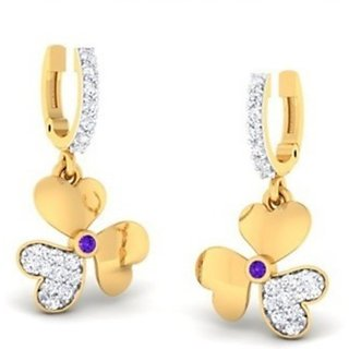 Amazing jewels ZA PN 6292 E 18 K Diamond Gold Drop Earring
