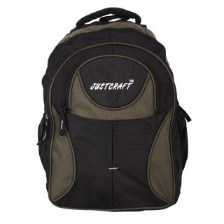 Justcraft Five Star Black And Green 30 Liters Backpack