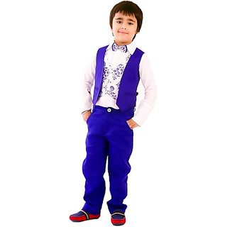 KIDOLOGY Waist Coat Set Printed Boys Suit