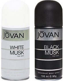 Jovan White Musk And Black Musk Combo Set (Set Of 2)