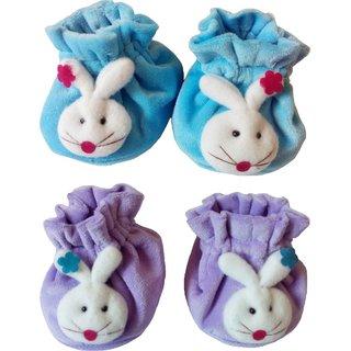 Sonpra Baby Premium Cotton Face Booties (0-6 Months)
