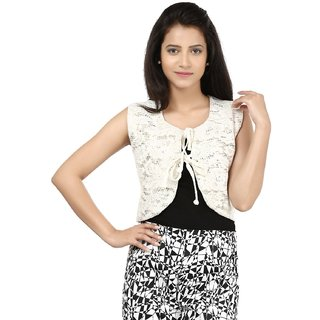 Visach Women Fashionable Jacket -Off White